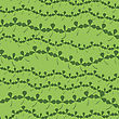 Natural Chamrock Texture. Cartoon Clover Leaves Isolated On Green Background. Patricks Day Banner