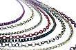 Grey Necklace With Colorful Chains stock photography