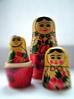 Nesting Russian Dolls stock image