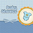 New Baby Boy Announcement Card stock illustration