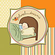 New Baby Boy Arrived, Vector Illustration stock vector