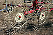 New Hay Raker Farm Equipment. Agricultural Machinery stock photography