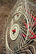 Agriculture New Hay Raker Farm Equipment. Agricultural Machinery stock photo