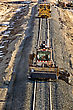 New Railroad Construction With Cement Rail Ties stock image