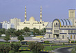 New Souk and Mosque Sharjah stock photo