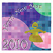 New Years Eve Card Illustration, Background Desing With Mosaic Tiles