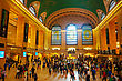 NEW YORK CITY - MAY 11: Grand Central Terminal With People On May 12, 2013 In New York City. It's The Largest Train Station In The World By Number Of Platforms And The World's Number Six Most Visited  stock photo