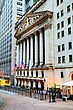 New York Stock Exchange Building Early In The Morning stock image