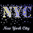New York T-shirt Emblem.Print Typography. Retro Label. Vintage Sport Pattern. Starry Basketball Logo On Black Background