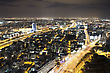 Night City, Tel Aviv At Night, Israel stock photography