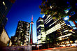 Night Photo Toronto City Downtown Urban Tower stock image
