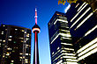 Night Photo Toronto City Downtown Urban Tower stock photography