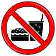 No Food Allowed Symbol. Prohibition Sign Isolated On White Background. No Food Or Drink Area Sign stock vector