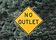 Traffic No Outlet Sign stock image