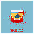 No Shark Finning Soup.Vector Protest Poster With Text stock image