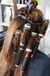 Hairstylists frizz untitled rolls long people asian stock photography