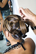 Hairstylists frizz untitled rolls people asian curly stock photo