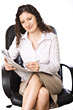 expression professionals manager holding swivel busy stock photo