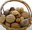 Nuts Mix In A Basket,Close Up stock image