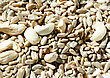 Nuts And Seeds Background, View From Above stock photography