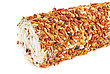 Frosted Nuts Swiss Roll Closeup Isolated stock image