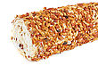 Nuts Swiss Roll Closeup stock image