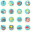 Objects For Pensioners Life.Vector Icons