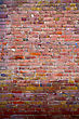Obsolete Multicolored Brick Wall stock photography
