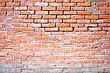 Obsolete Red Brick Wall Background stock photo