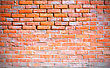 Obsolete Red Brick Wall Background With Vignette stock photo