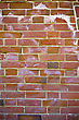 Obsolete Wall Of Red Bricks stock image