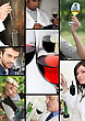 Oenologists And Wine Producers Examining Wine stock photography