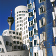 Office Buildings, Dusseldorf, Germany stock photography