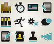 Business People & Computer Office And Bussines Icon Set. Vector Illustration stock vector
