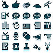 Business People & Computer Office And Communication Icon Set. Vector Illustration. stock illustration