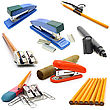 Office Stationery Tool Set stock photo