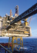 Oil Drilling Platform stock photo
