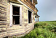 Old Abandoned Building In Saskatchewan Canada Rural stock image