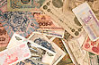 old banknotes stock image