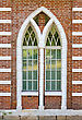 old brick window architecture detail stock image