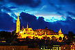 Old Budapest With Matthias Church At Night