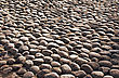 Old Grunge Grey Cobble Stone Back Ground stock image