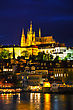 Royalpalace Old Prague Cityscape With The Charles Bridge After Sunset stock photo