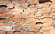 Old Red With Hollows A Brick Wall Of The House A Structure stock photography