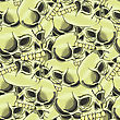 Old Retro Human Skull Seamless Random Pattern