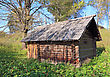 Old Rural House Amongst Tree stock photography