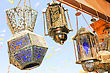 Old Street Lamps At Sun Light stock photography