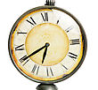 Old Vintage Clock Closeup Isolated stock photography