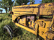 Old Vintage Farm Tractor Saskatchewan Canada Yellow stock photo