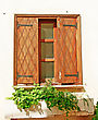 Old Window In Kyrenia, Northern Cyprus stock photography